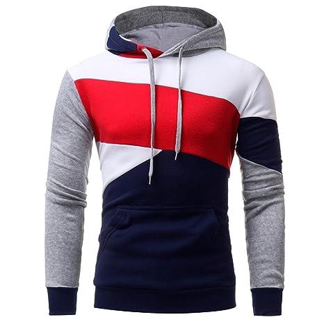 Abrigos de hombre Costura de los hombres y chaqueta con capucha estilo de invierno 2018,