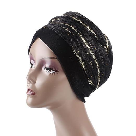 0ff416cac6a Women s Muslim Velvet Scarf Hat Stretch Turban Head Scarves Pre-Tied  Headwear Bandana for Cancer