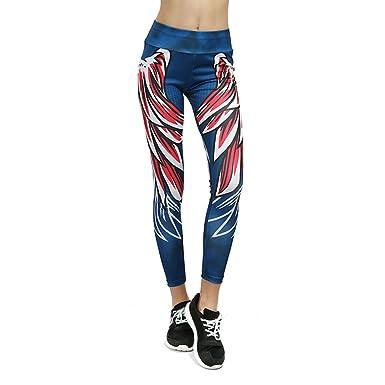 6a0e70d514576 wenyujh Femmes Leggings Pantalon de Sport Imprimé Motif Nid d abeille  Fashion Pantalon Stretch Collant