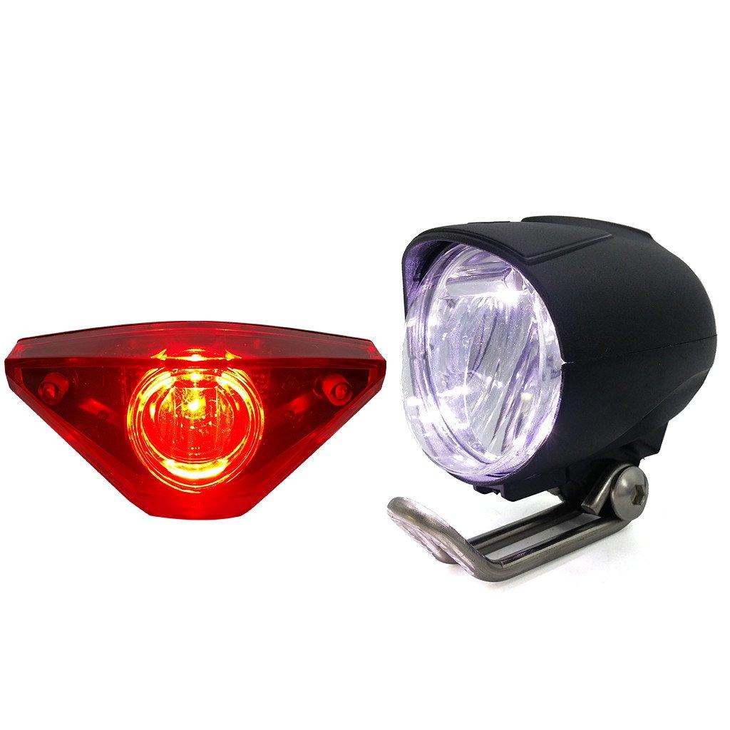 ZOOMPOWER 6v - 80v 12v 24v 36v 48v 60v 72v universal e-bike headlight taillight set front light headlamp rear light taillamp bafang 1w