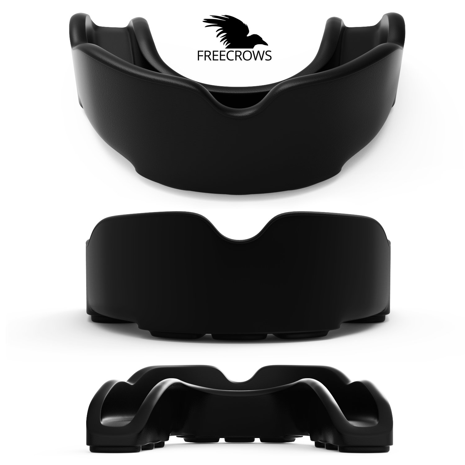 MMA Mouthguard / Adult Mouth Guard - 2x Gum Shield Teeth Protection for all Contact Sports and Game - UFC , Boxing , Taekwondo , Martial Arts , etc.- Two Mouthguards for Women and Men by Freecrows by FREECROWS (Image #5)