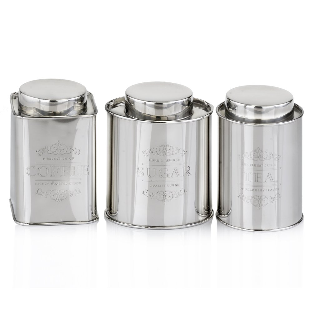 Modern Day Accents 5191 Coffee Tea & Sugar Canisters Set/3