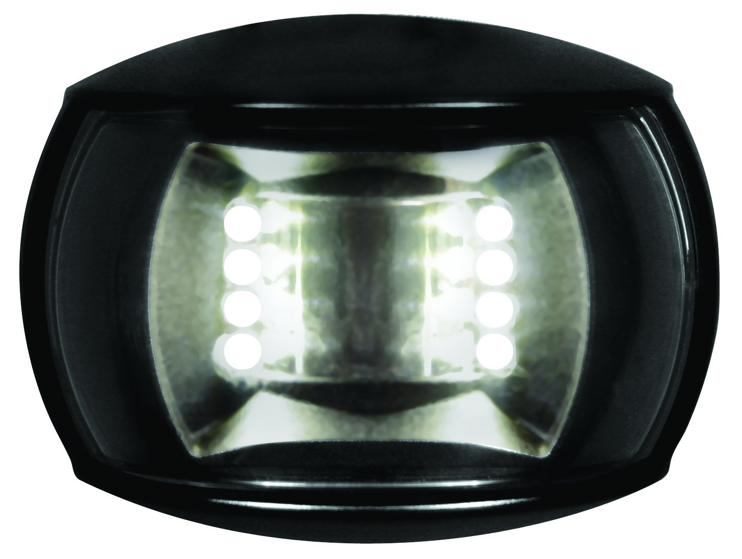 HELLA 980520501 '0520 Series' NaviLED Multivolt White 8-28V DC 2 NM Compact Stern Navigation Light with Clear Lens and Black Shroud by HELLA