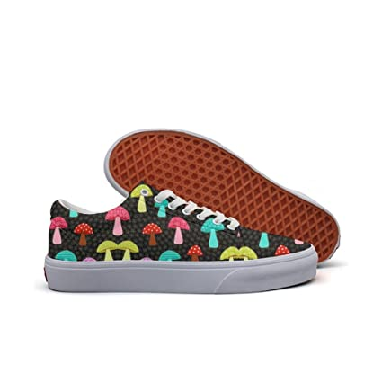 Womens Skateboarding Shoes Canvas Dot Mushrooms Sport Sneaker