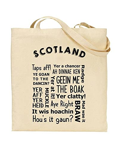 Scottish Slang - Regional Dialect - Phrases - TOTE - Bag - Handbag -  Shopping - Novelty Gift by TeeDemon®