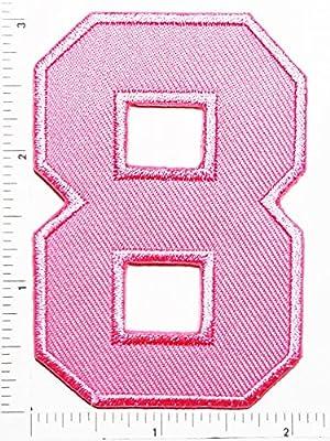 Rosa número 8, número Ocho Counting Logo carta escuela símbolo ...