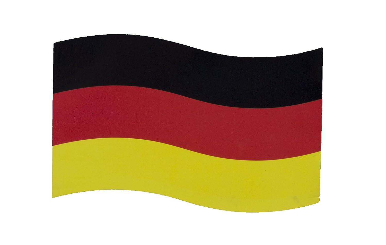 Hebgen Trading Automagnet Deutschlandfahne 21x14cm/magnetische Deutschlandflagge WM 2018 Deutschland. Hält auf jeder magnetischen Oberfläche z.B. Auto, Motorrad, Briefkasten, Kühlschrank, Traktor. Kühlschrank