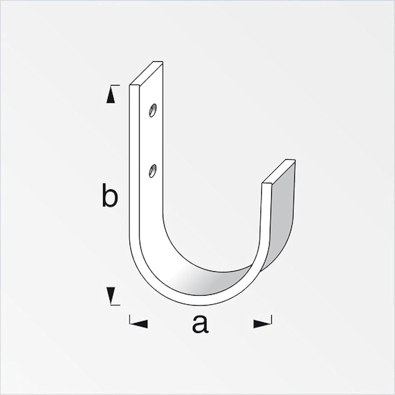 4 x SECOTEC/® Universalhaken flach 110 x 70 mm Ger/ätehaken Gartenger/ätehalter Werkstatthaken