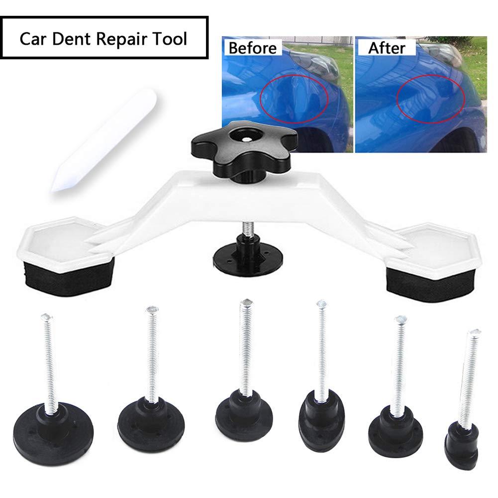 8 Piezas Fix Dent Repair Tool Kit Instrument Paintless Car Auto Body Damage Pulling Bridge Remove Glue Tab Hand Tool Set