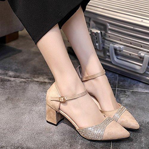 GAOLIM Consejos Trabajando El Sandalias Tacones Singles Zapatos Femeninos De blanco Otoño Los M Con Correas Estudiantes En Gruesas PrFwPq4