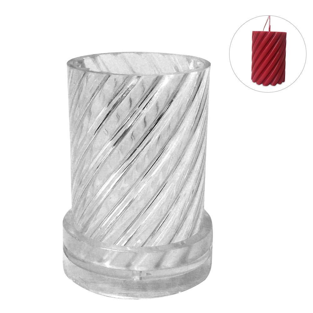 yestter Kerzenform aus Kunststoff Kunststoff Basteln in Spiralform Modell Kerze handgefertigt zylindrisch Formen Wachs Formen zur Herstellung von Kerzen