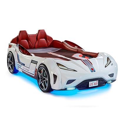 Amazoncom Cilek Gts Twin Size Kids Race Car Bed Frame For Boys