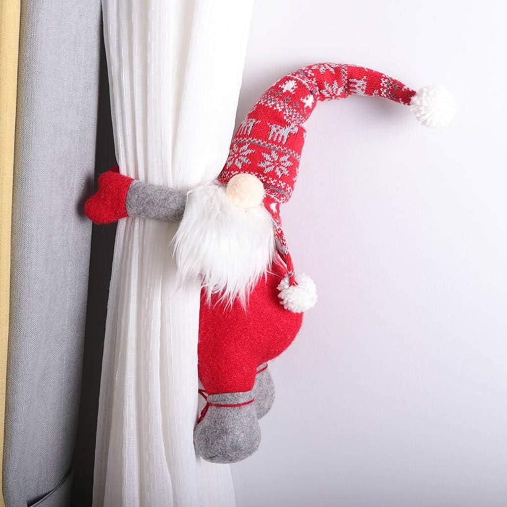 Ansenesna Weihnachtsdeko Wichtel Figuren Vorhang Knopf Weihnachten Deko