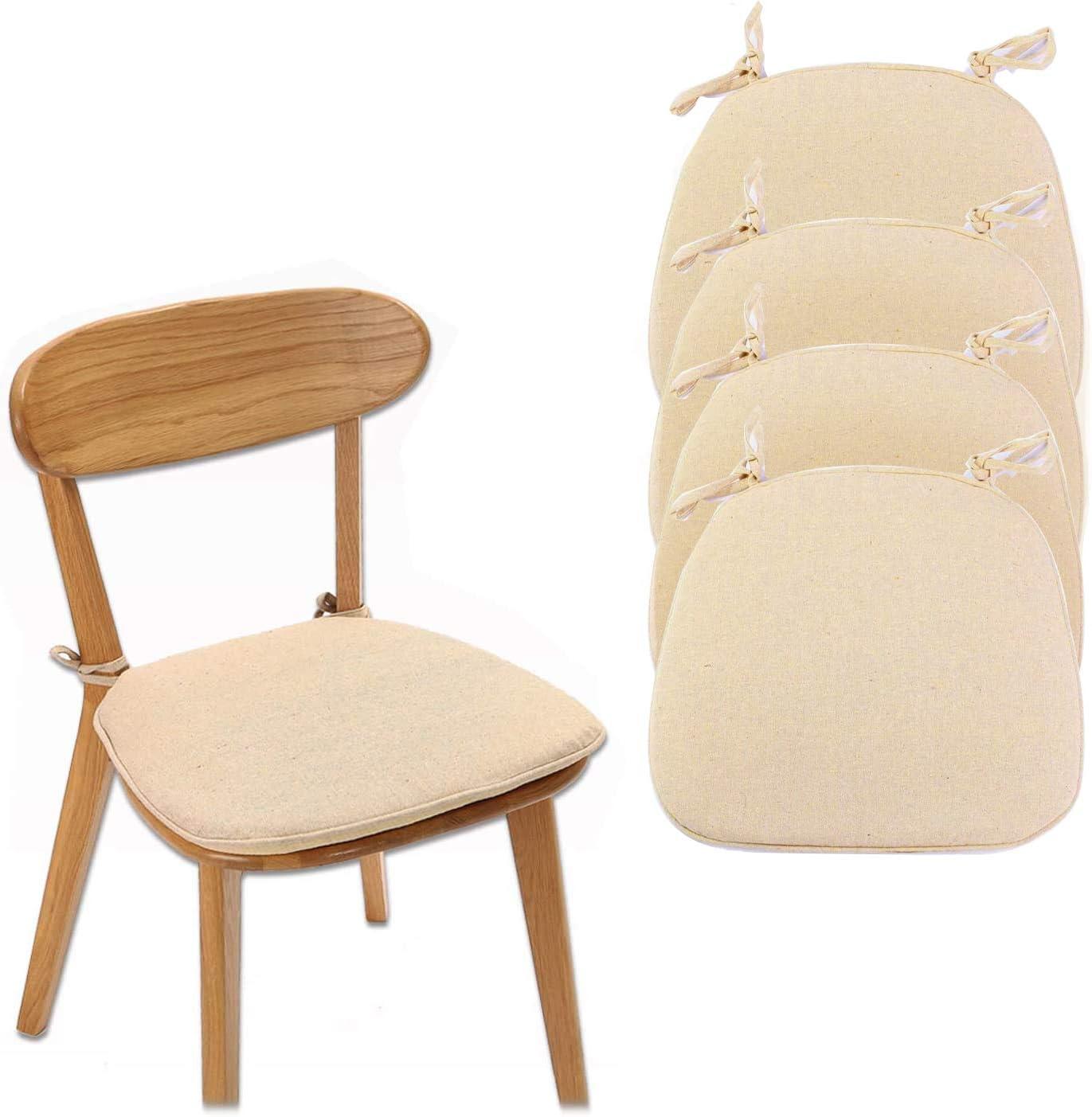 jxgzyy 4 Pack Non-Slip Chair Cushion