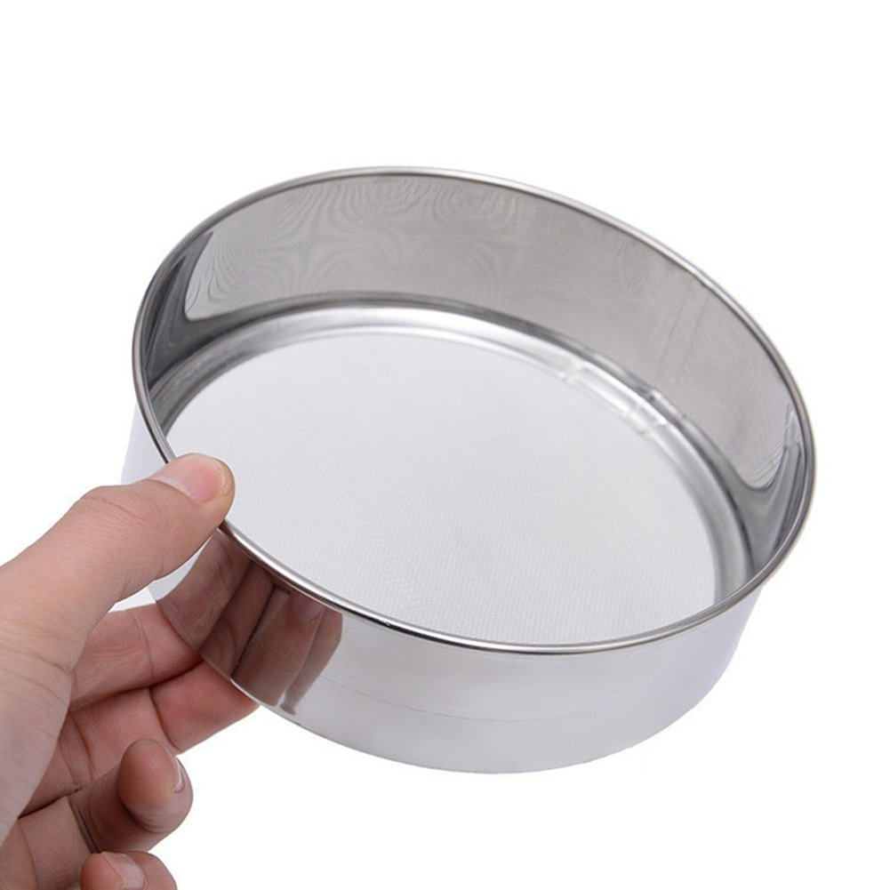 daffodilblob Durable Stainless Steel Mesh Flour Sifting Sifter Sieve Strainer Baking Kitchen Tool 5.91'' x 1.97'' Silver