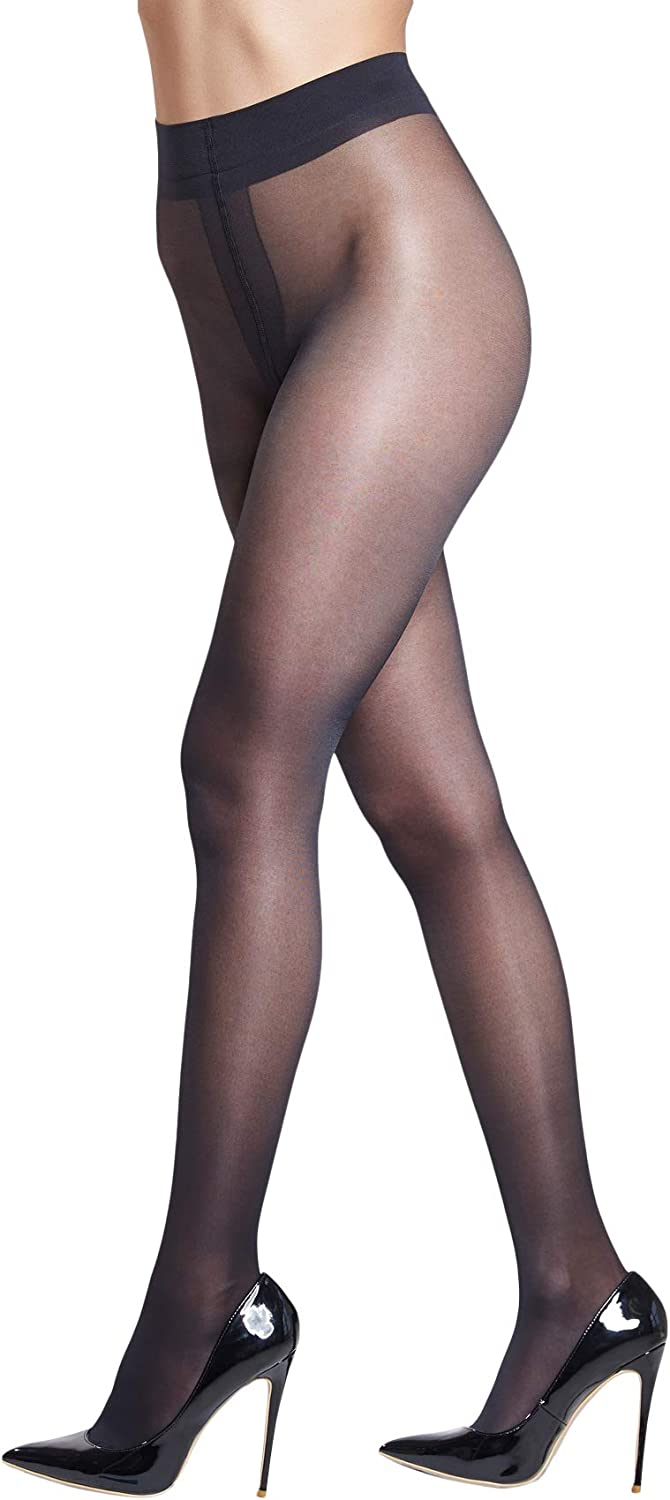 Semi-Gloss Electric Colours Selection Pack 15Denier Sheer Tights ONESIZE 4pairs
