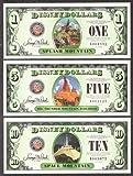 Disney Dollar 2014 Mint. Unc. $1 $5 & $10 Mountain Serries Complete Set