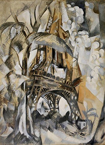(Posterazzi Eiffel Tower with Trees 1910 Poster Print by Robert Delaunay (18 x 24))