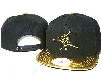 Black Air Jordan Gold Brim Snapback  Amazon.co.uk  Sports   Outdoors cf8c2807051