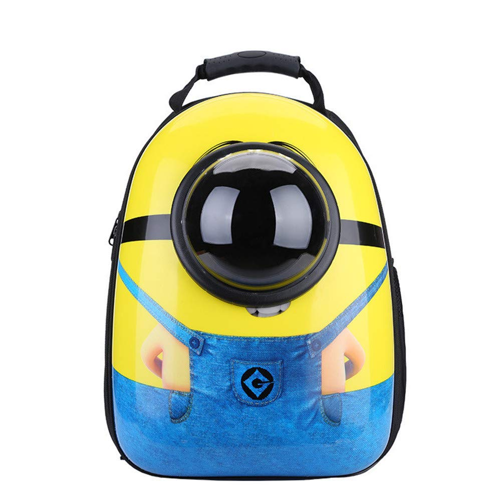 NTUOO Pet Backpack Space Capsule Rucksack Out Portable Dog Cat Space Knapsack Traveler Multi-pores Waterproof Lightweight Small Yellow Version