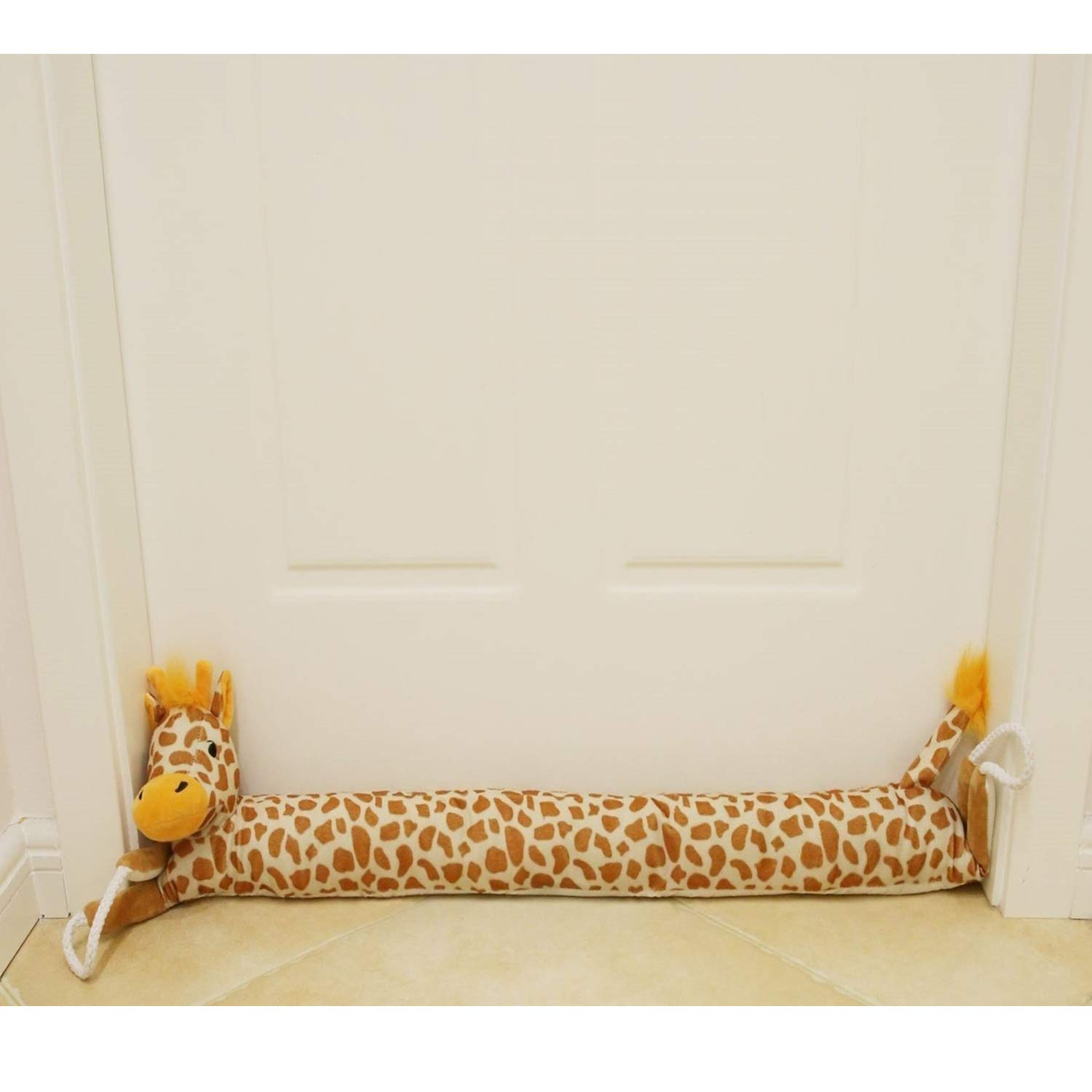 36'' Giraffe Under Door Draft Stopper (1.8 lbs) Draft Dodger Doors Snake with Hanging Cord, Save Energy & Money, Keep Heat in by MAXTID
