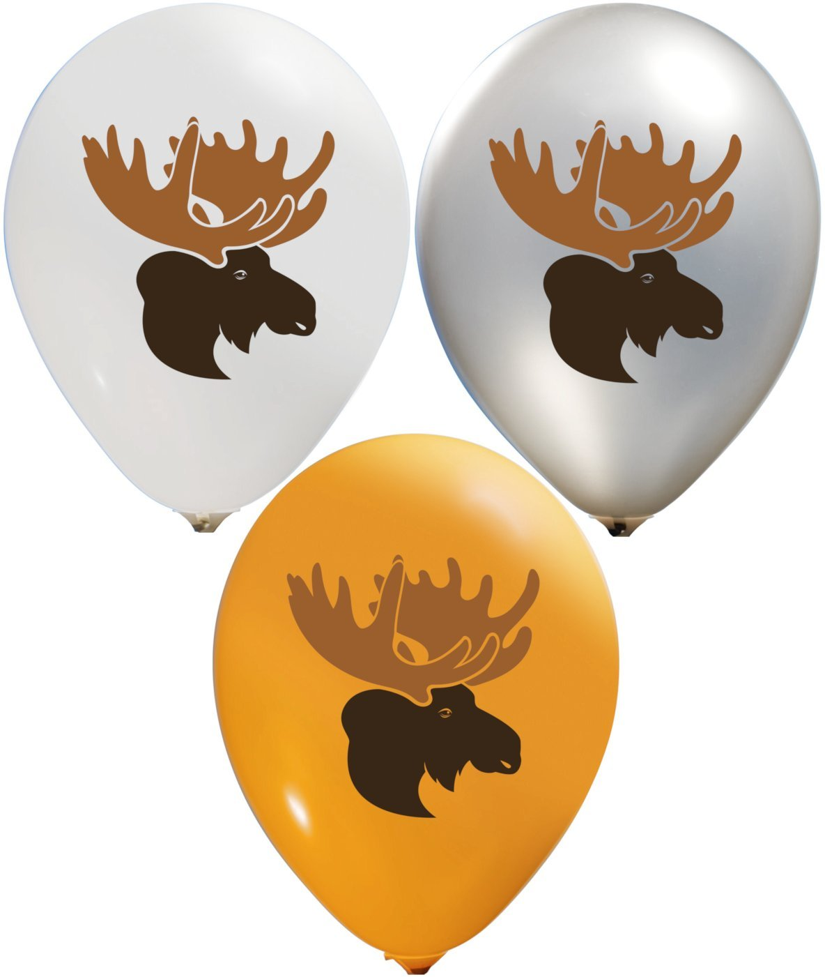 Moose Balloons | Colorful Latex Balloons (20-Count) Happy Birthday Party or Event Use | Fill with Air or Helium | Kid-Friendly