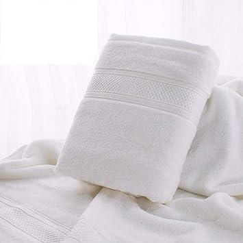 SYXLTSH Toalla de baño Fibra Conjunto de 2 Piezas Adulto Absorbente Color sólido hogar Conjunto Suave, Blanco: Amazon.es: Hogar