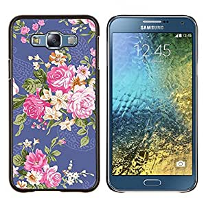 Dragon Case - FOR Samsung Galaxy E7 E7000 - fabric cloth begonia rose floral flower - Caja protectora de pl??stico duro de la cubierta Dise?¡Ào Slim Fit