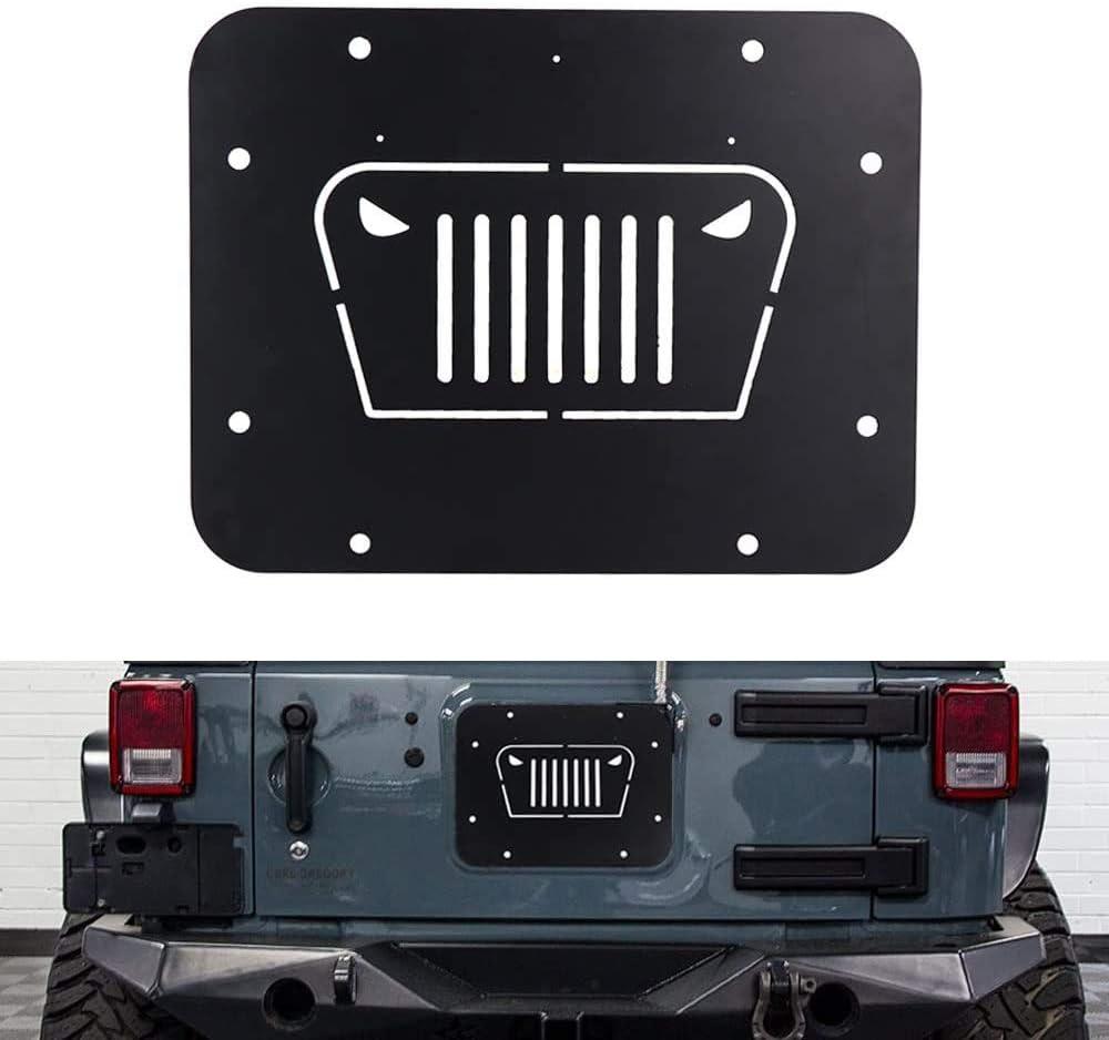 L/&U Adatto Jeep Wrangler Gomma di Ricambio Piastra Elimina per JK JKU 2007-2017 portellone Tramp Stamp Vent Copertura