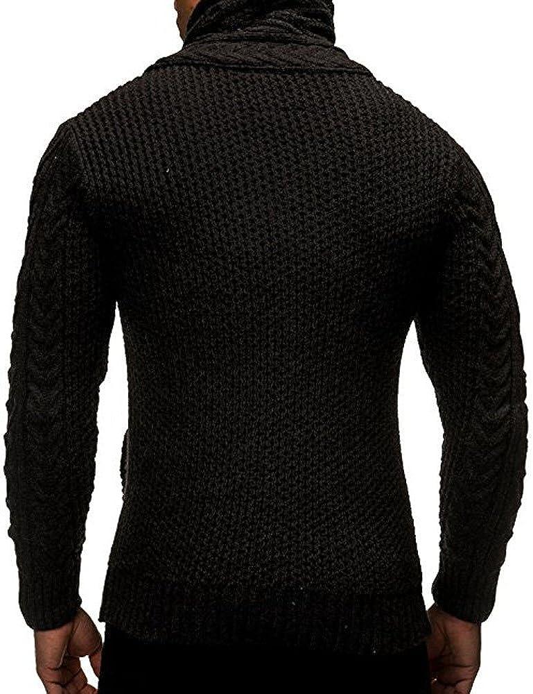 Siviki Men Autumn Winter Casual Cardigan Sweater Coat Knitting Sweater Coats Fashion Hoodies Sweatshirts