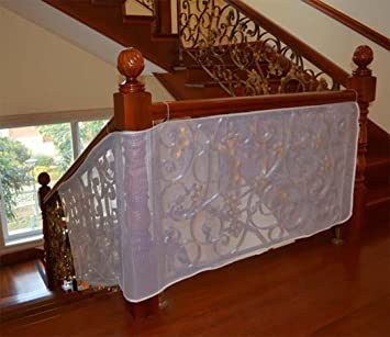 Hillento Children Safety Rail Balcony Stairs Net Banister Stair Safety Net  For Kids/ Pet/