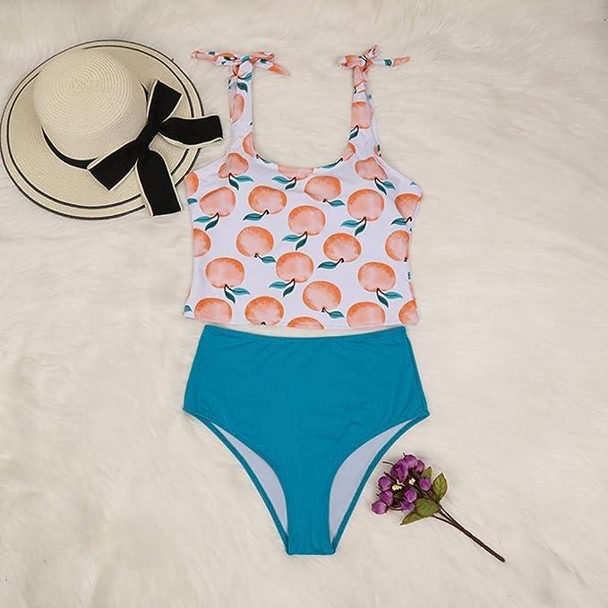 Cintura Alta Braguitas Bikinis para Mujer bañadores Mujer, Trajes de baño Mujer una Pieza Bikinis Atractivo de Mujeres Traje de baño de elástico sin Respaldo Sexy Mujer de Playa Bikinis brasileño: Amazon.es: