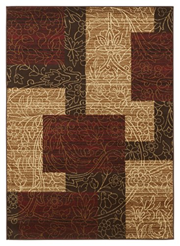 Ashley Furniture Signature Design - Rosemont Medium Rug - Vintage Casual Style - Subtle Floral Pattern (Rugs Area Red Gold And)