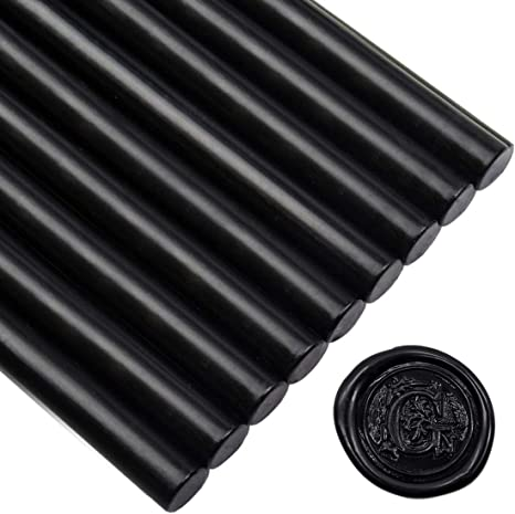 Amazon Com Black Sealing Wax Sticks For Glue Gun 5 4 L 12 Sticks