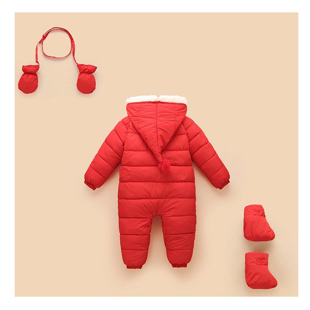 Rojo 3-6 Meses Vine Beb/é Mameluco Ni/ñas Body con Capucha Invierno Peleles Monos Traje de Nieve