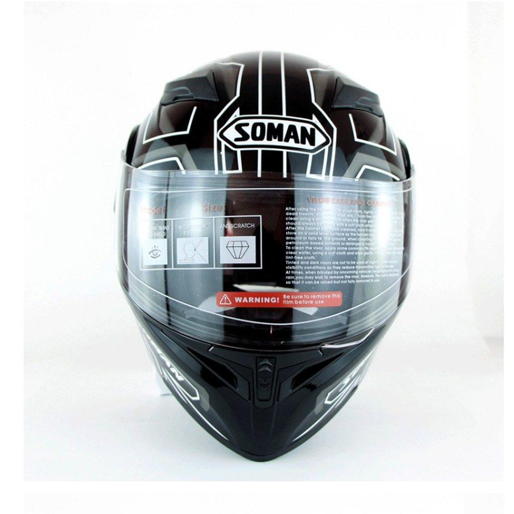 DGF ヘルメットハイグレードオートバイの男性と女性ハイビジョンアンチフォグダブルレンズオープンフェイスヘルメット四季オフロードヘルメットヘルメット (色 : A, サイズ さいず : XL) B07FL1F14Z  A X-Large