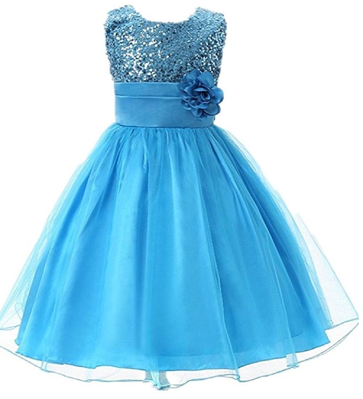 Amazon.com: SRYSHKR Kids Wedding, Girls Dress Child Princess Sequin ...