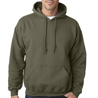 Star and Stripes Plain Military Green Army Colour Hooded Sweatshirts ... 1adc1e410