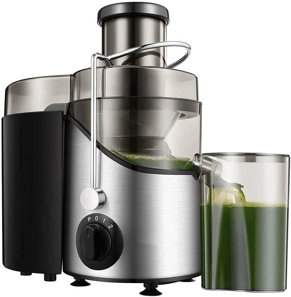 ZOUJIANGTAO Juicer, Juicer Machines for Fruits &Vegetables, Centrifugal Juice Extractor Easy Clean with Wide Mouth Feed Chute, 304 Stainless Steel Filter,3 Speed Centrifugal Juicer