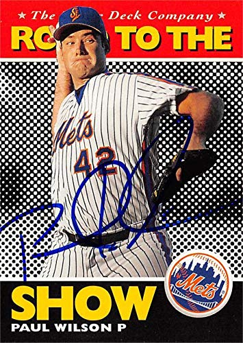 Paul Wilson autographed baseball card (New York Mets) 1994 Upper Deck Road to the Show #169 - MLB Autographed Baseball -