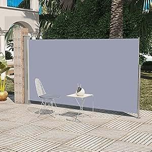 SENLUOWX Toldo lateral de jardín o terraza 160 x 300 cm gris