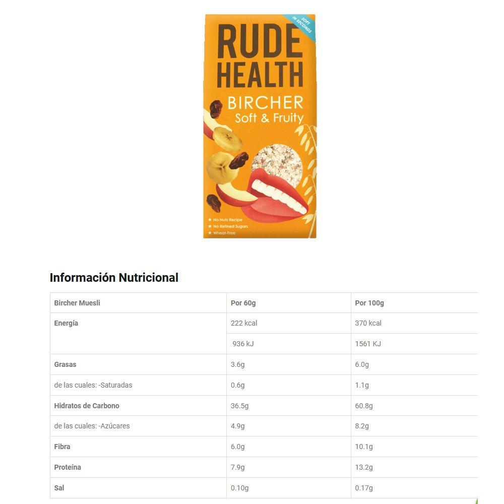 Rude Health Muesli Bircher - Frutas 450g: Amazon.es: Alimentación y bebidas