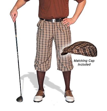 53bd7e2e743 Amazon.com   Golf Knickers Plaid and Cap  Mens  Par 5  - Blackburn ...