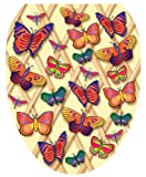 Toilet Tattoos TT-1700-O Butterflies-a-Flutter Design, Elongated