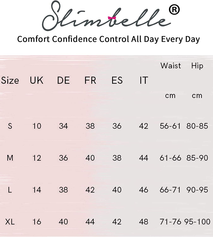 SLIMBELLE Donna Modellante Vita Alta Guaina Intimo Shapewear Mutande Contenitiva Slip Contenitive Pancia Pancera da Dimagrante Shaper Up Snellente