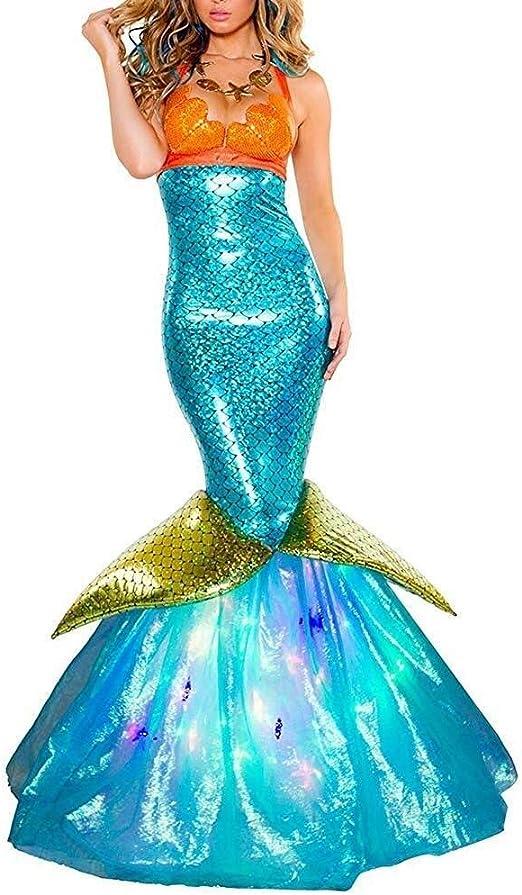 Cicongzai Disfraces de Halloween vestidos de baile de la sirena ...