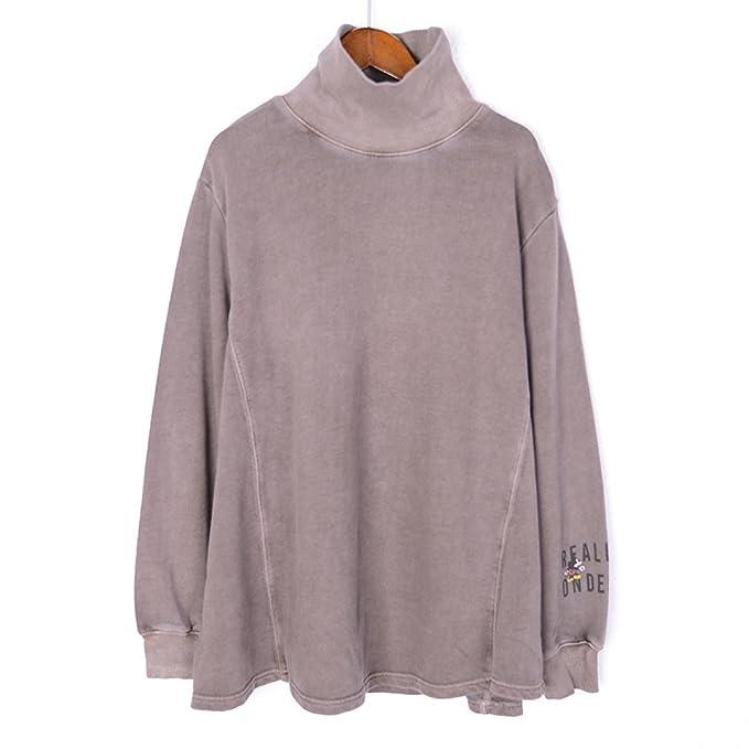 CHLXI Suéter con Corea del Alto Collar Moda Otoño Mantener Caliente Transpirable,Lightcoffee-L