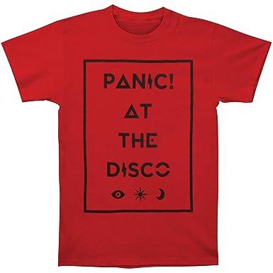 f14a8f197b4a Amazon.com: Panic at the Disco Men's Box Icons Tee Slim Fit T-Shirt ...