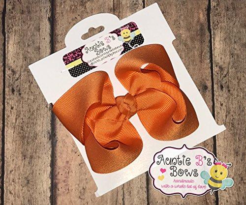 Solid Pumpkin Pie Orange Boutique Hair Bow 5 MADE IN USA