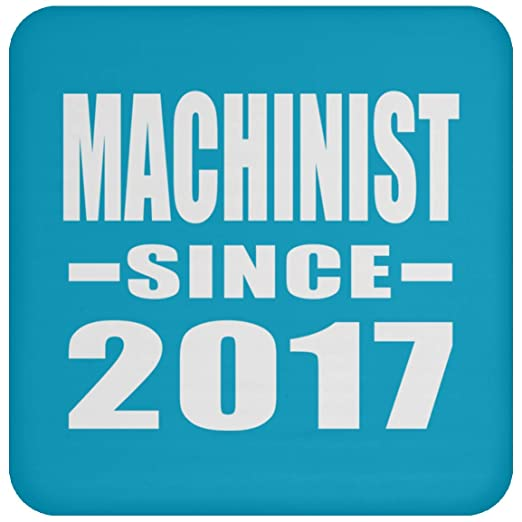 Machinist Since 2017 - Drink Coaster Turquoise Posavasos ...